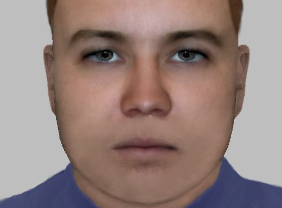 Police have released an e-fit image of a man suspected of throwing acid at a 13-year-old girl and 63-year-old woman in Thornton Heath, south London, on 8 April, 2019.