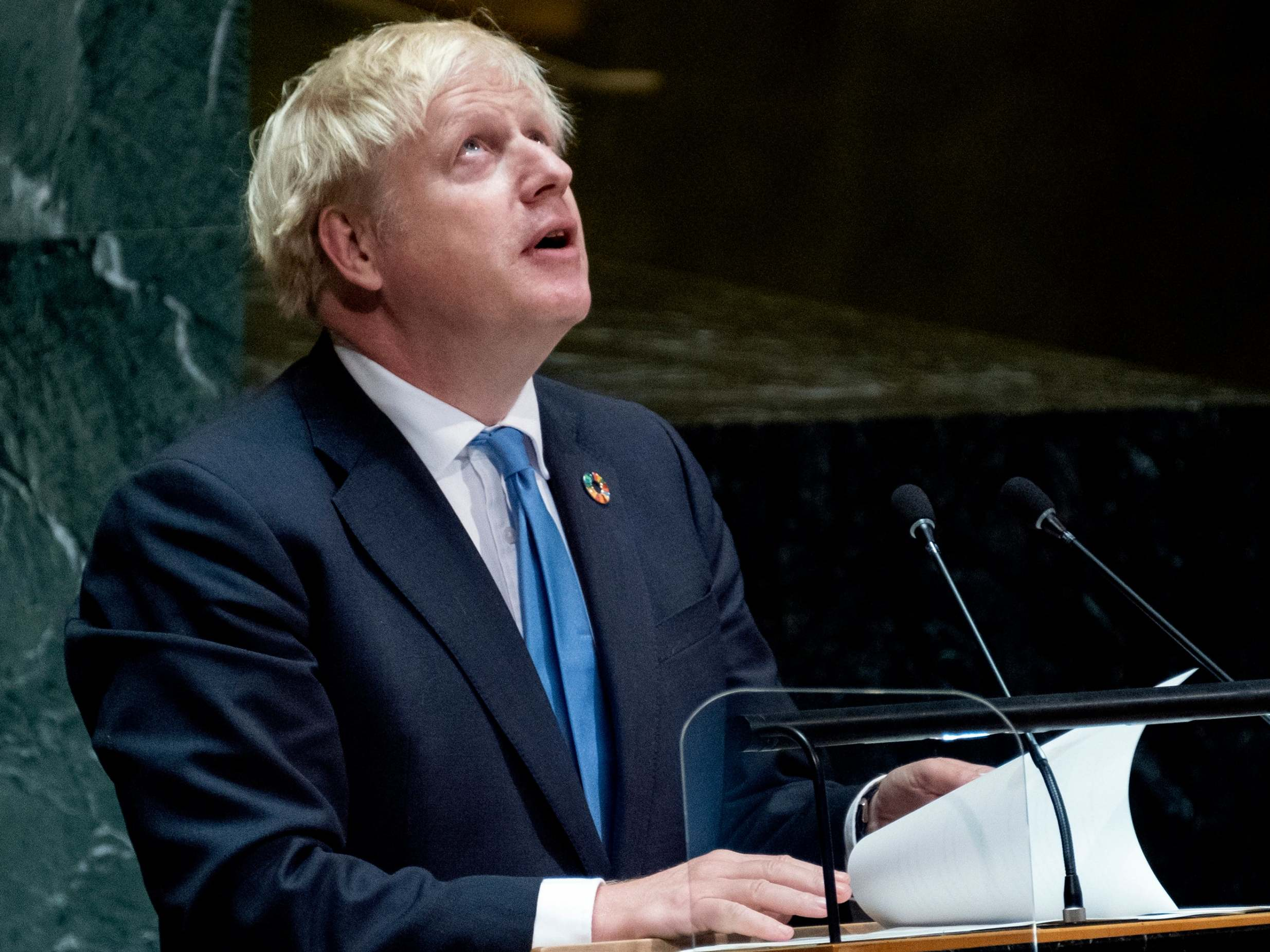Boris Johnson delivers bizarre speech to UN warning of