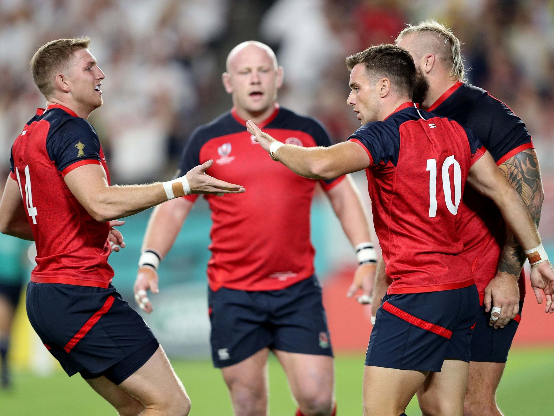 England Crush U.S. at Rugby World Cup
