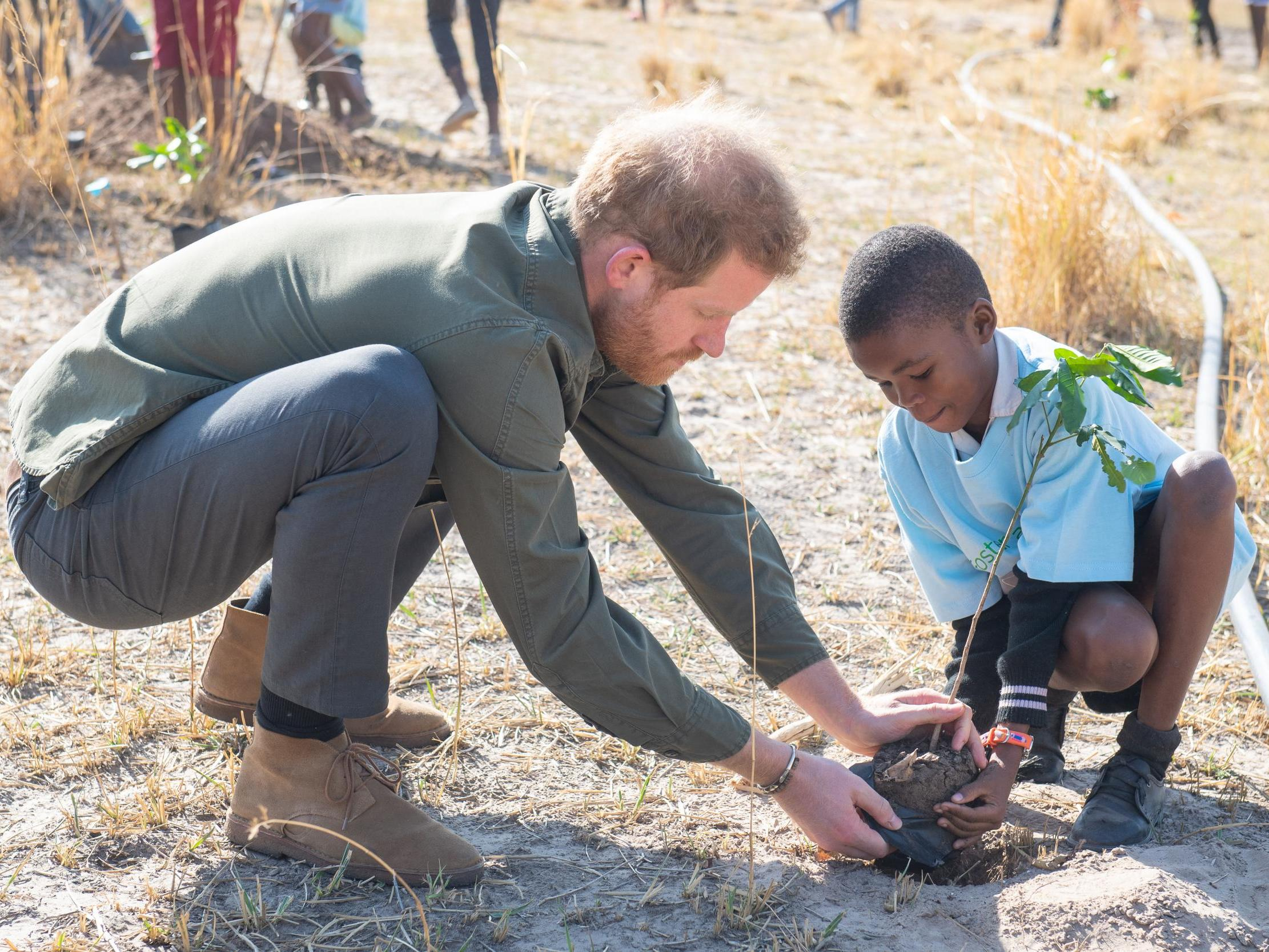 Prince Harry says climate change is 'a race against time' as he backs Greta Thunberg