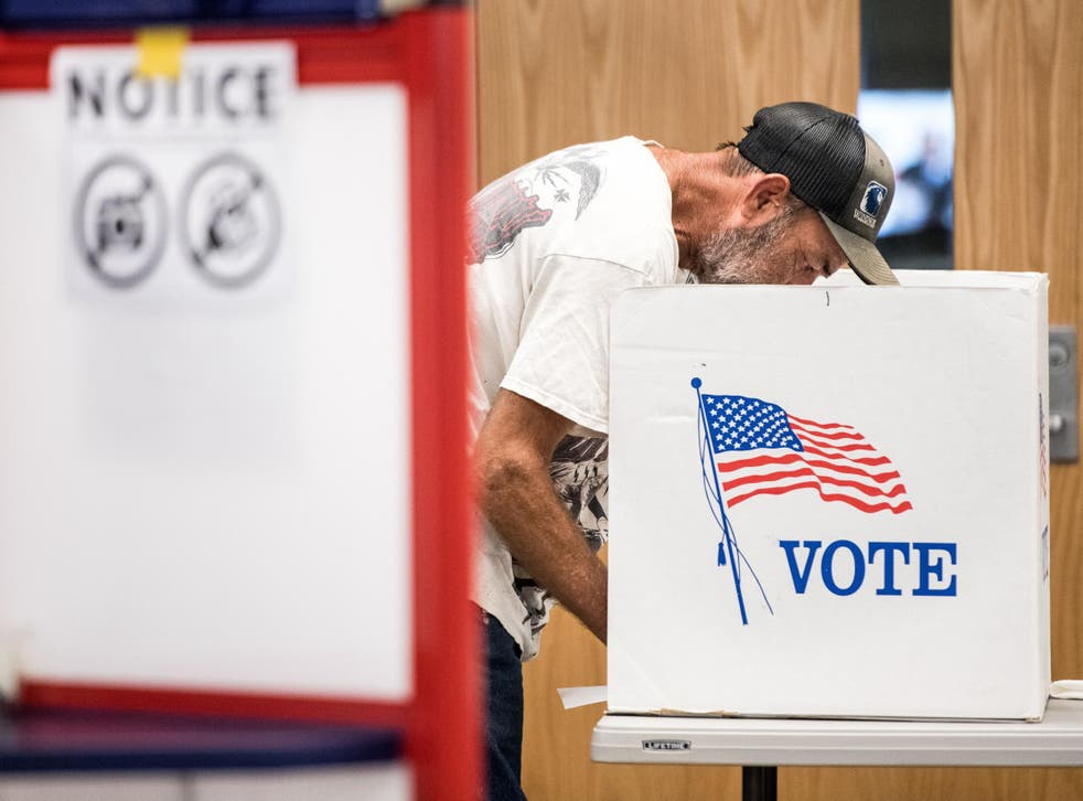 A voter in North Carolina's special election.