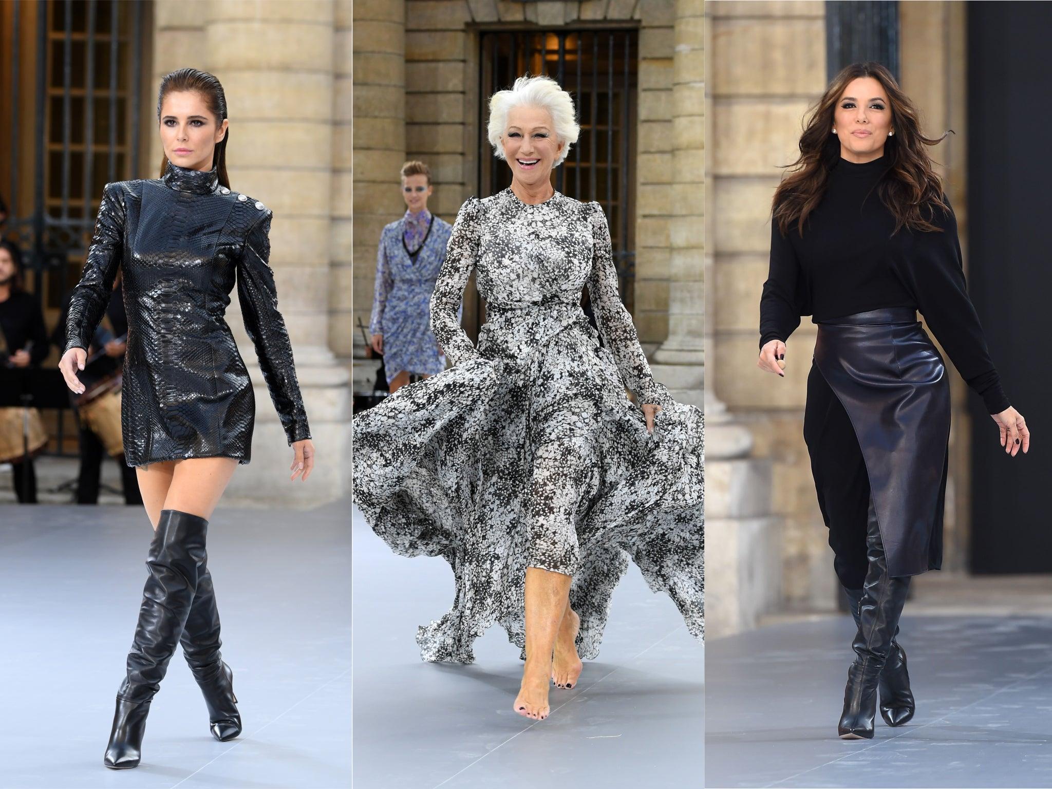 Paris Fashion Week: Helen Mirren, Eva Longoria and Cheryl Tweedy star in L'Oréal show