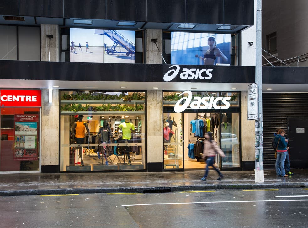 The large screen outside this Asics store was hijacked by hackers