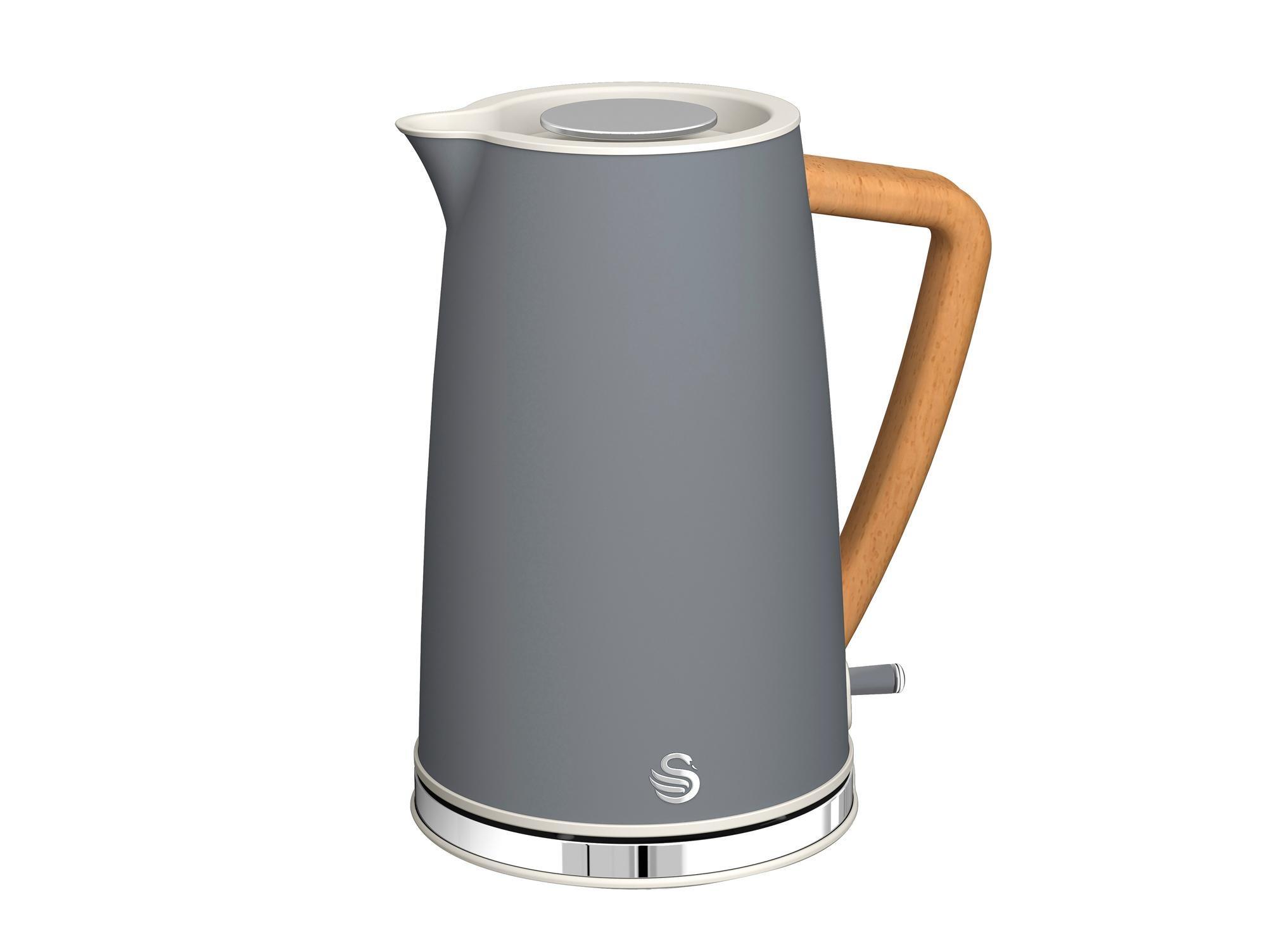 Swan 2200W 1.7 Litre Black Electric Cordless Jug Kettle Fast Rapid Water Boil