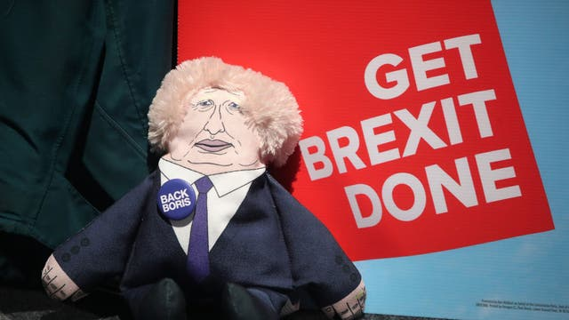 A Boris Johnson doll for sale at the Conservative Party Conference in Manchester on 29 September