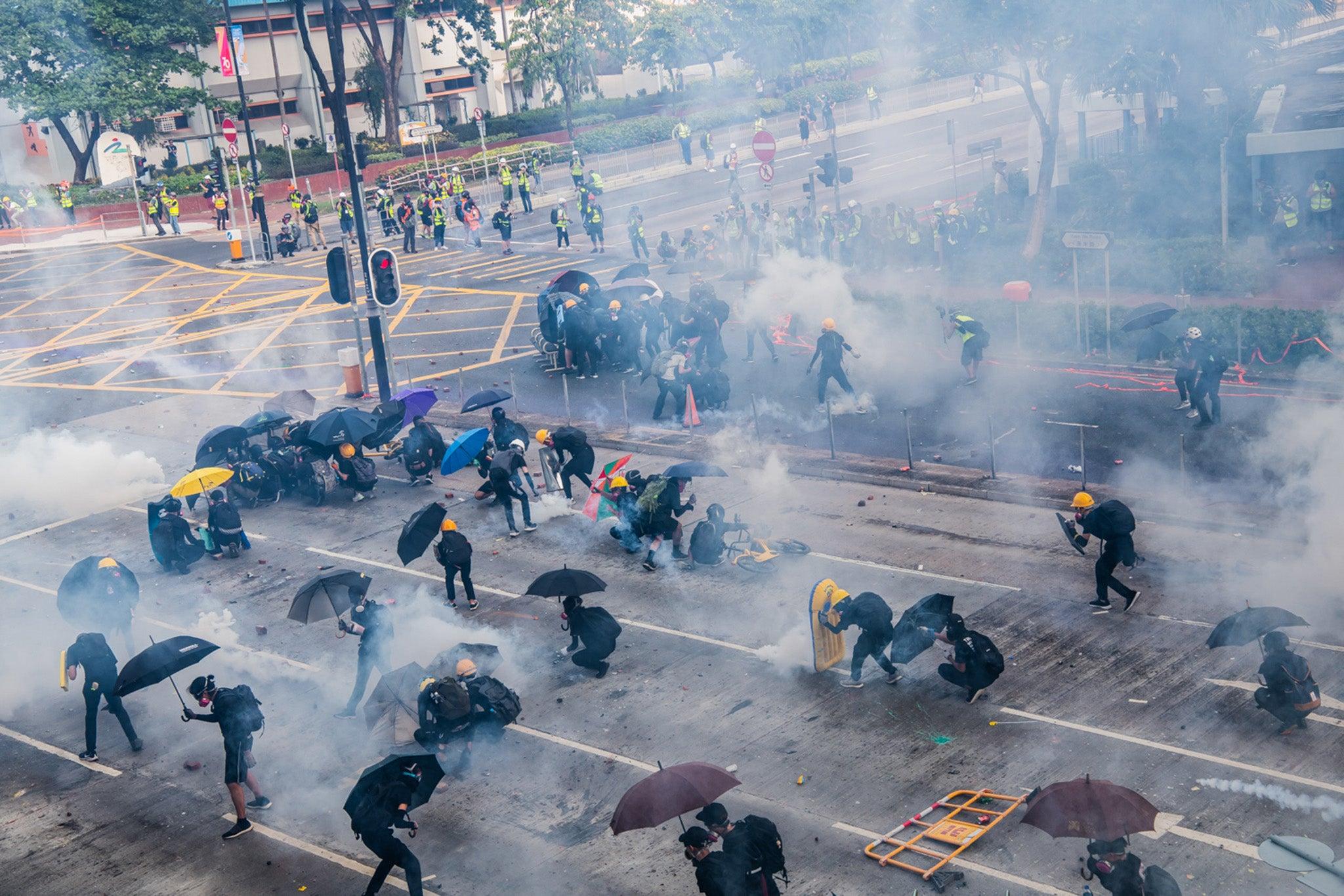 Image result for hong kong police violence mtr tai koo