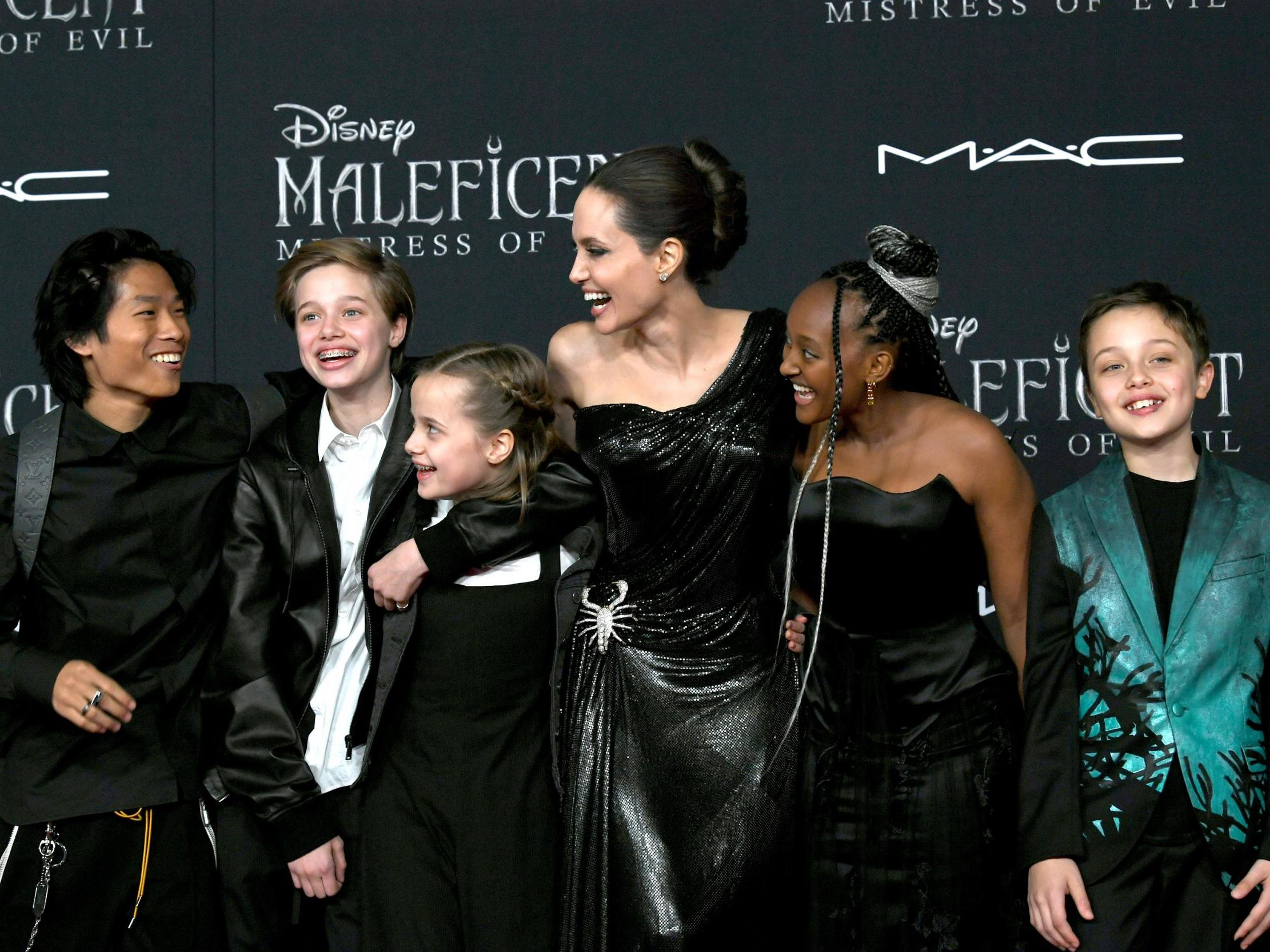 Angelina Jolie Walks The Maleficent Mistress Of Evil Red