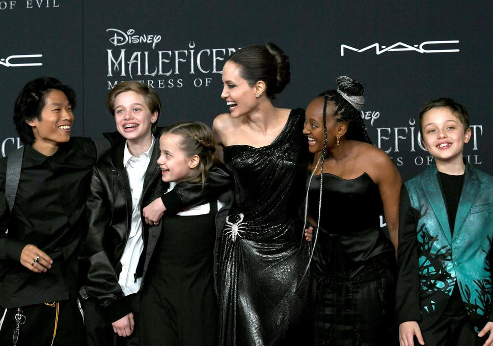 Angelina Jolie Walks The Maleficent Mistress Of Evil Red