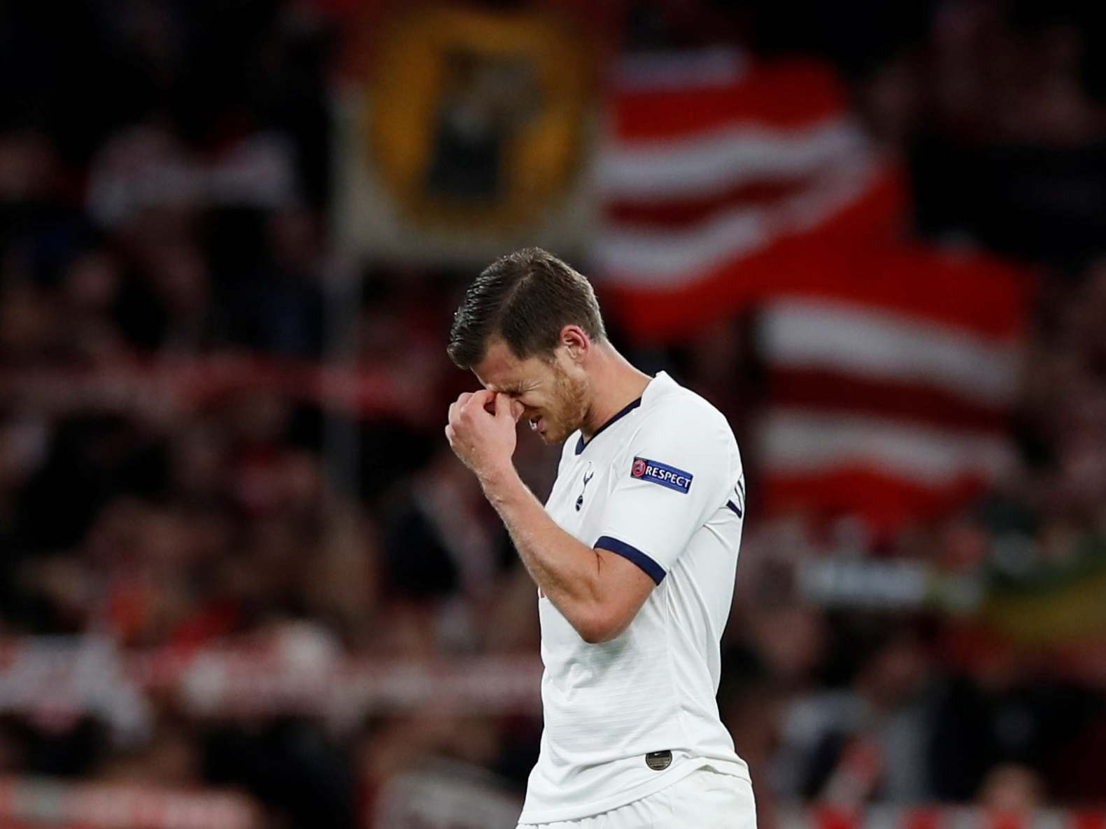 Tottenham vs Bayern Munich: Jan Vertonghen 'ashamed and embarrassed' after Spurs humiliated