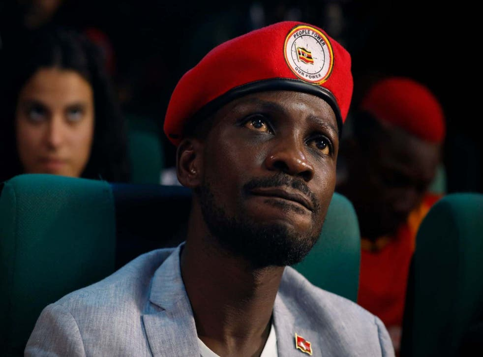The red beret has become a trademark uniform of Bobi Wine and his supporters