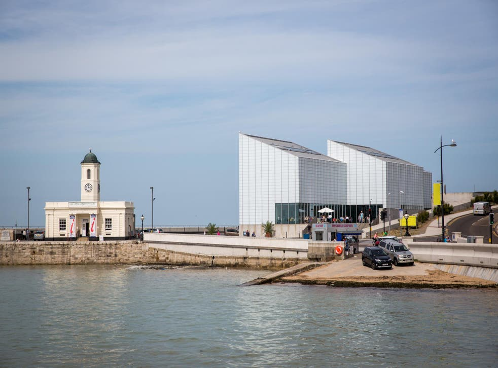 Outside the Turner Contemporary, opened in 2011, on the Margate pier