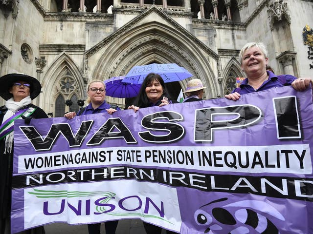 Campaigners protest outside the Royal Courts of Justice on Thursday