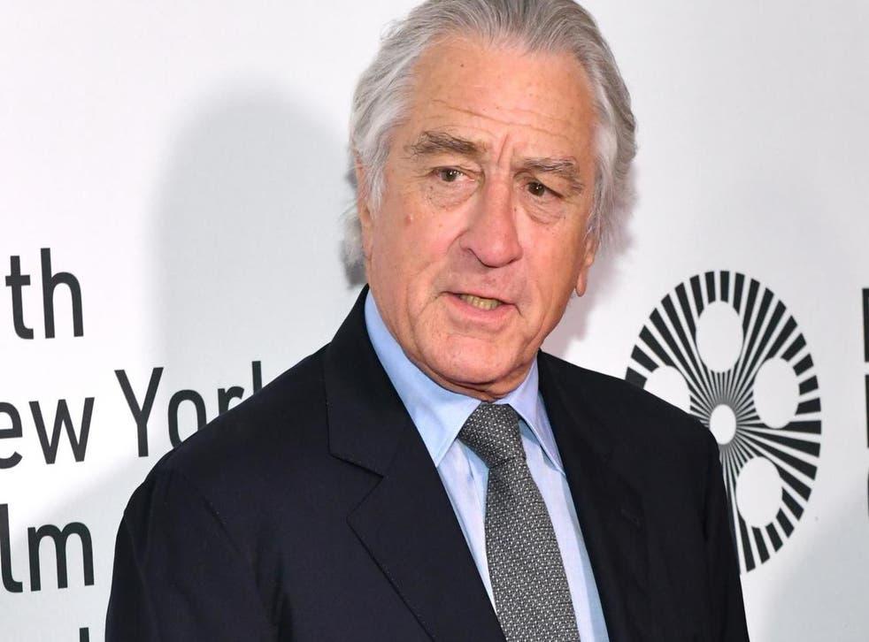 Robert De Niro at the opening night of the 57th New York Film Festival on 27 September, 2019 in New York.