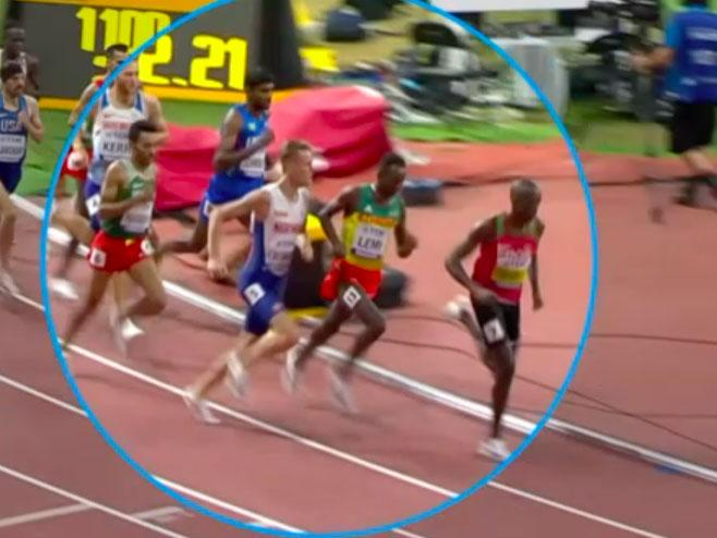 World Athletics Championships: Filip Ingebrigtsen escapes disqualification after punching fellow 1500m runner