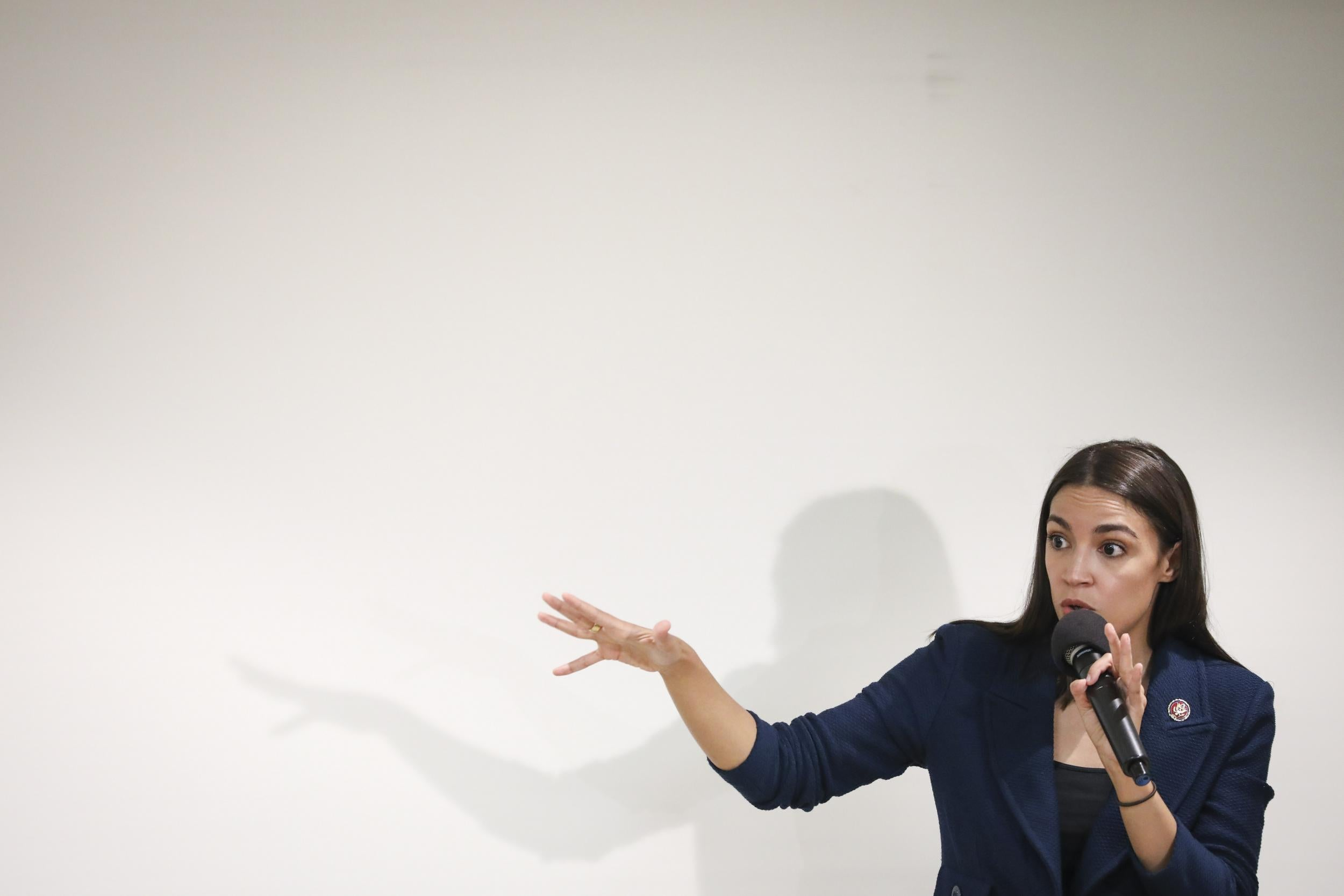 Interruption At Aoc Town Hall Revealed To Be A Pro Trump Stunt The Independent The Independent