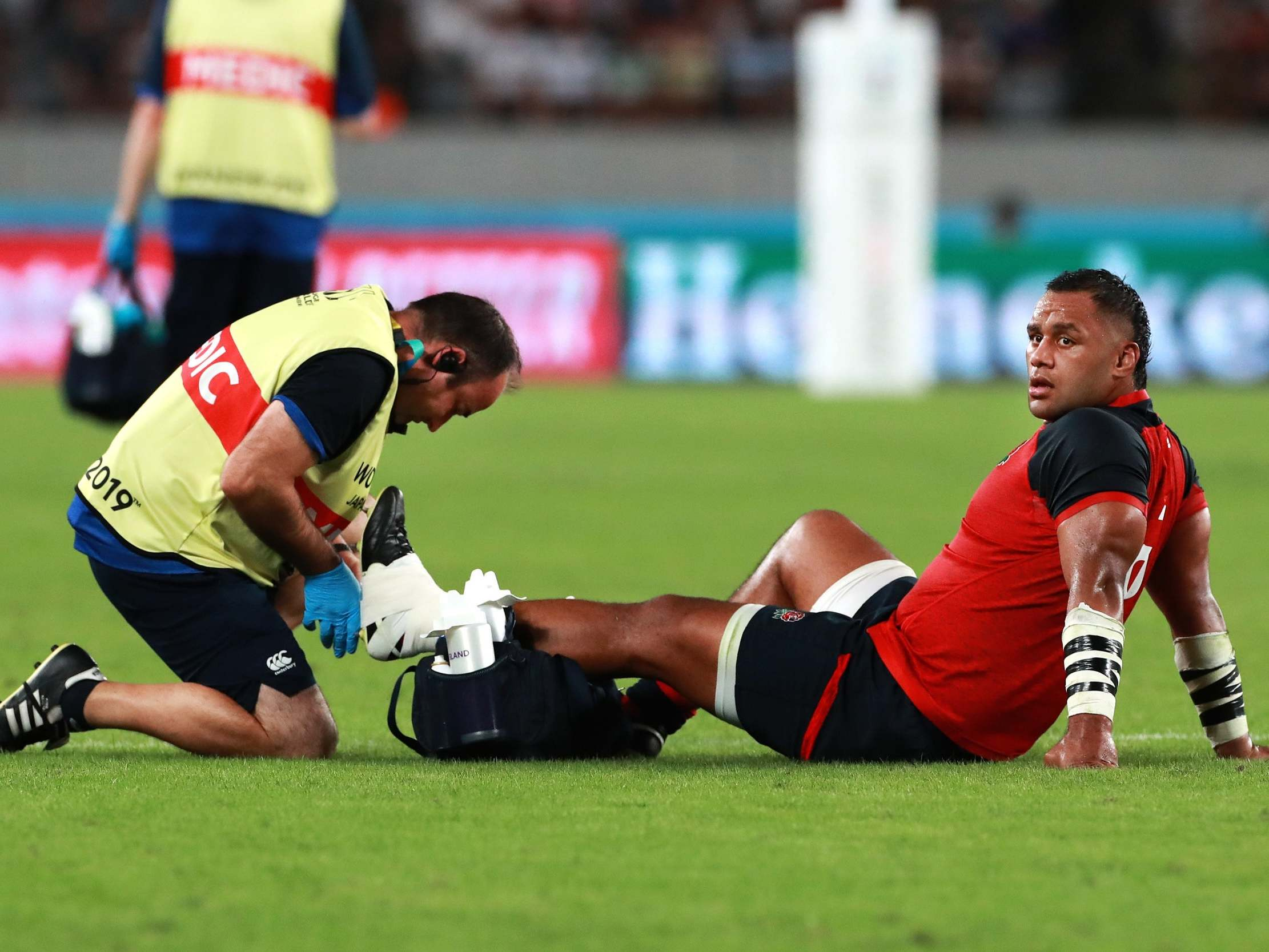 Rugby World Cup 2019: England sweat on Billy Vunipola injury as Owen Farrell clears up HIA confusion