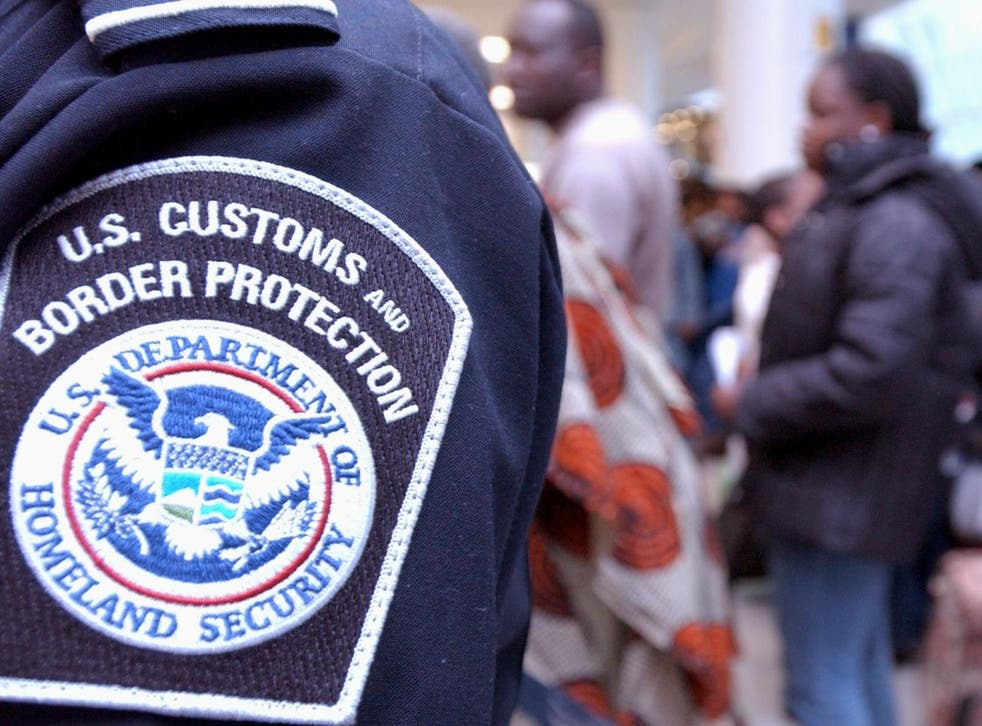 Customs and Border Protection officials have confirmed they are investigating the officer's 'alleged inappropriate conduct'
