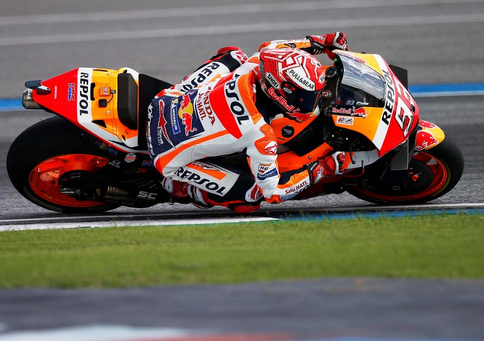 Marc Marquez en route to victory at the Chang International Circuit
