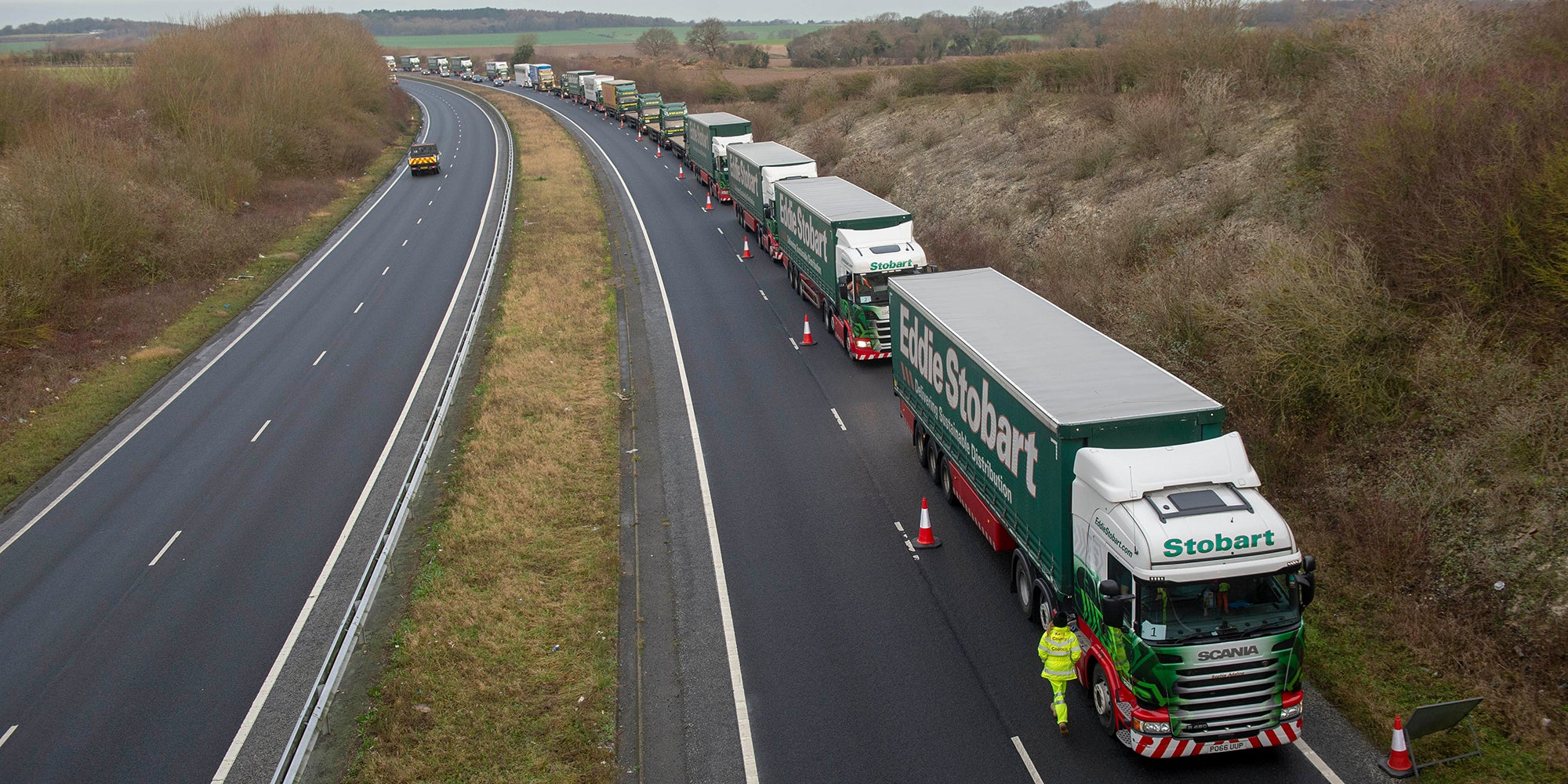 Ministers brace for no-deal Brexit disruption with £60m plans for motorway barrier