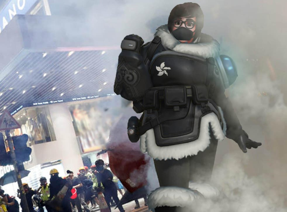 Overwatch hero Mei has become a symbol of resistance for the pro-democracy protests in Hong Kong