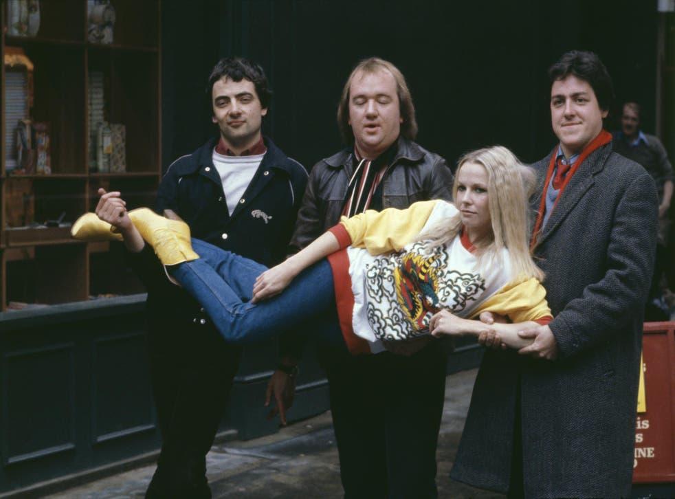 Alternative funsters: (from left) Rowan Atkinson, Mel Smith, Pamela Stephenson and Griff Rhys Jones in 1980
