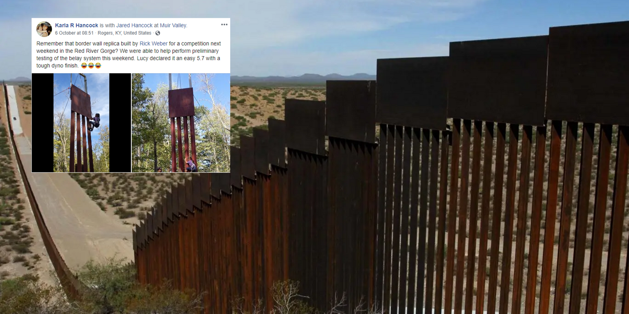 An 8-year-old girl just proved how easy it is to climb Trump's 'impenetrable' border wall