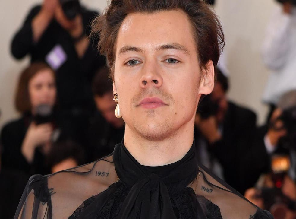 Harry Styles arrives for the 2019 Met Gala at the Metropolitan Museum of Art on 6 May, 2019, in New York.