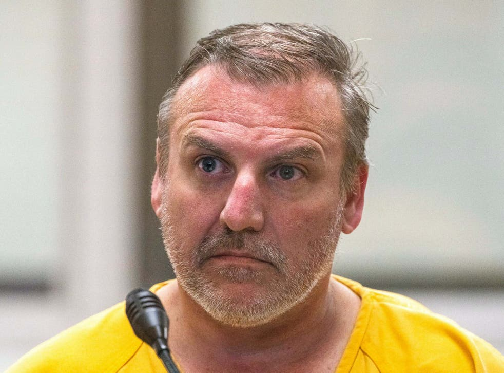 Brian Steven Smith, 48, who has been charged with first-degree murder, appears at the Anchorage Jail courtroom on 9 October 2019, in Anchorage, Alaska.