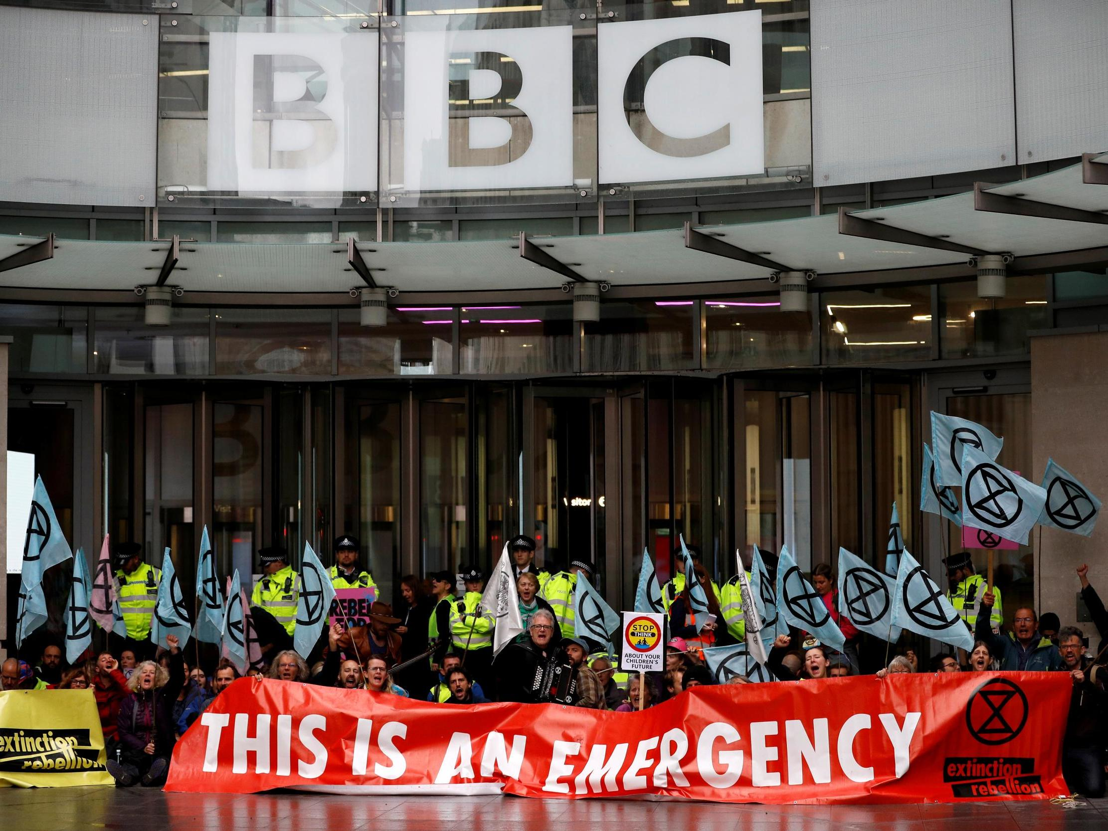 Extinction Rebellion protests: Climate activists blockade BBC offices as police chief attacks 'chaos' on London streets