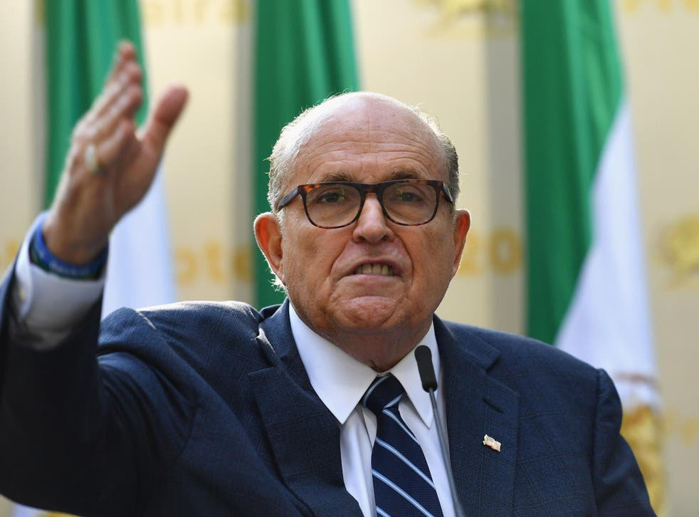 Mr Giuliani is under investigation for his dealings with Ukraine