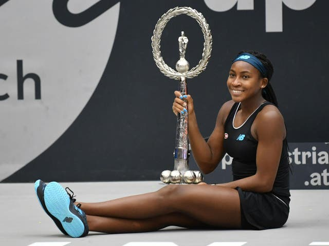 Coco Gauff claimed her first WTA title in Linz, Austria