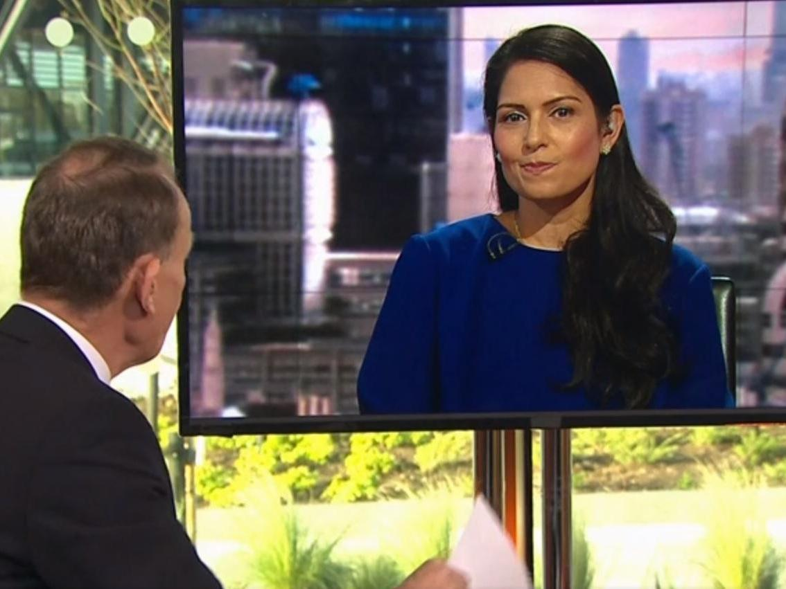 'I can't see why you are laughing': Priti Patel accused of smirking about impact of no-deal Brexit on 'Andrew Marr Show'