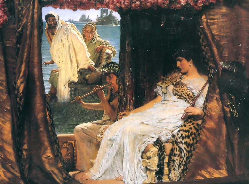 Antony and Cleopatra, 1883, by Sir Lawrence Alma-Tadema