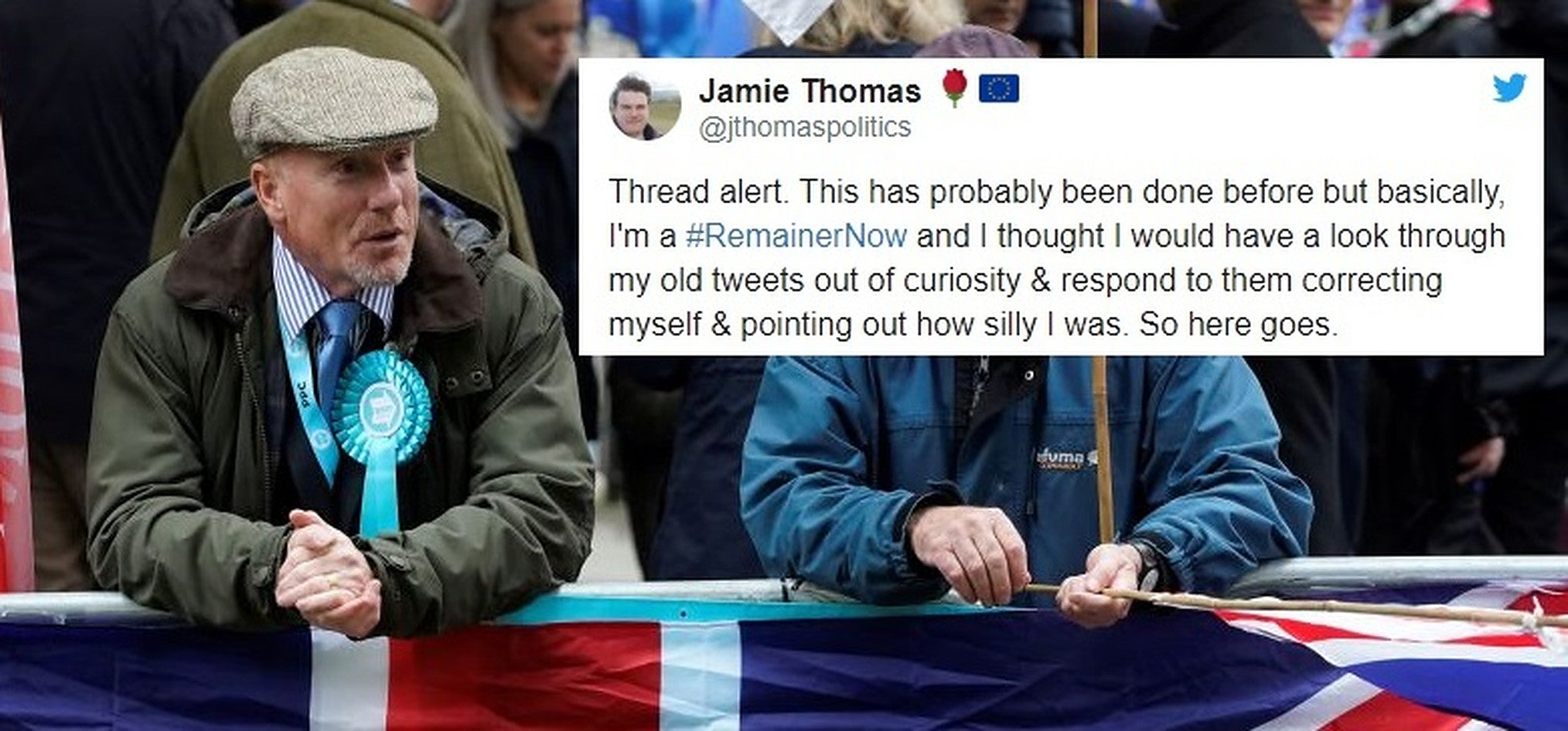 This former Brexiteer went through all his old tweets and pointed out where he went wrong