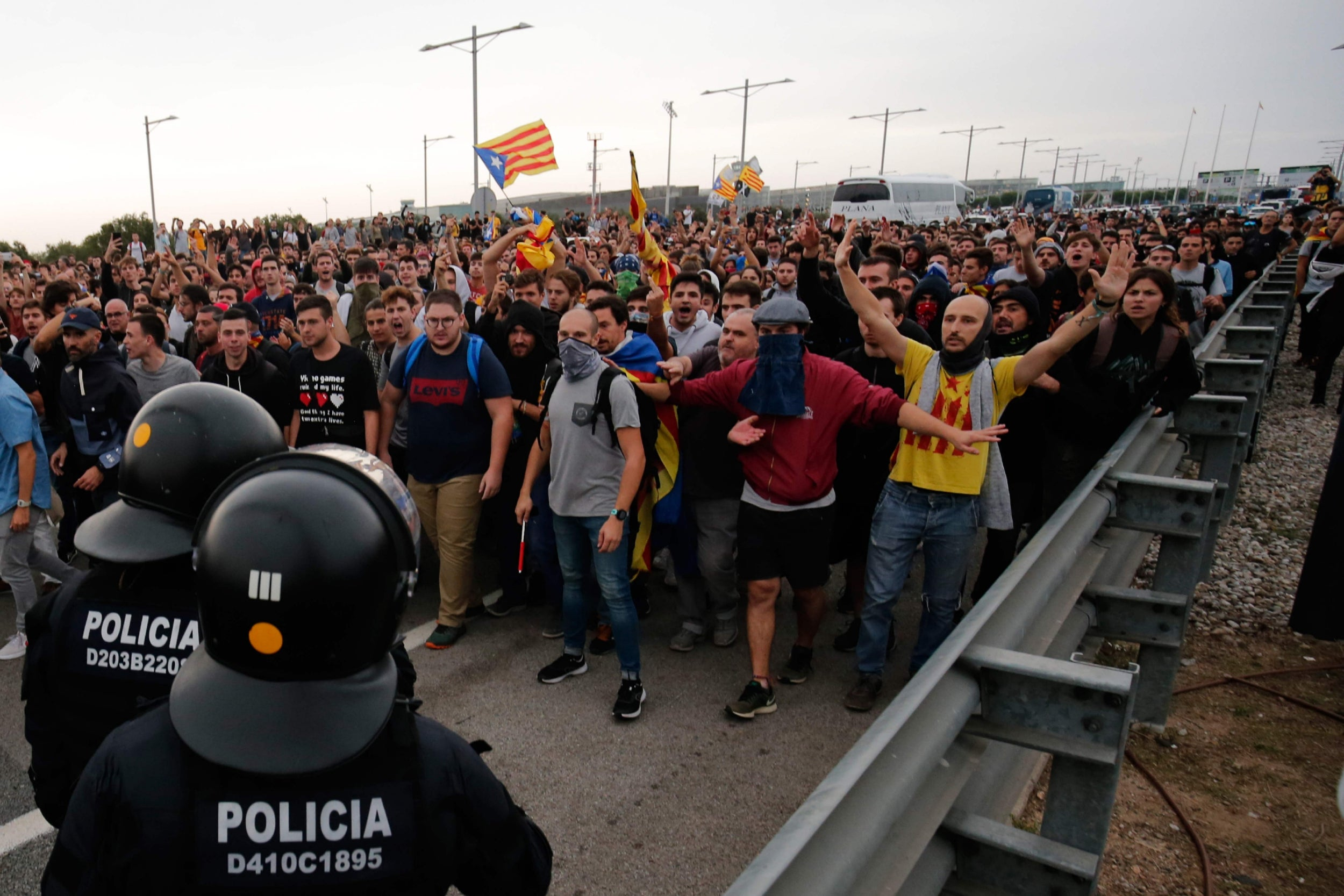 Image result for Catalan protests: Fresh clashes after Spain jails separatist leaders