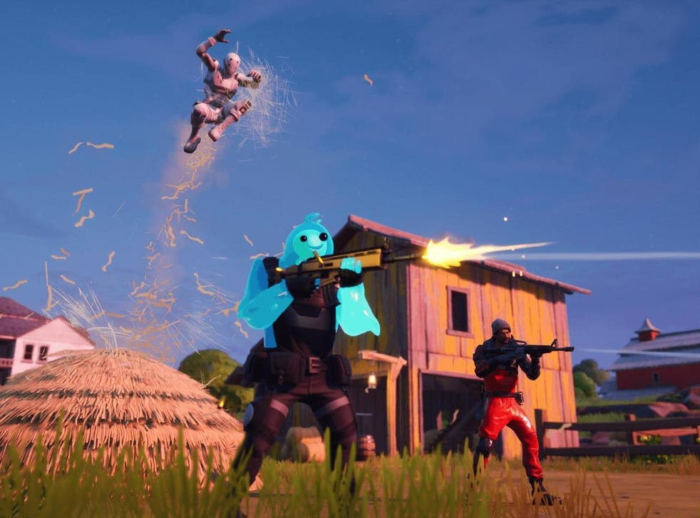 Shooting em' up: Fortnite pits players against each other until just one is left standing.