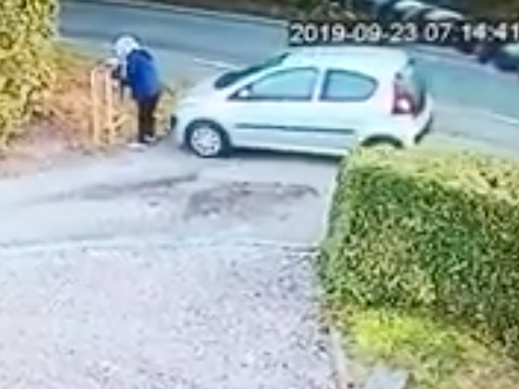 Woman runs herself over after leaving handbrake off
