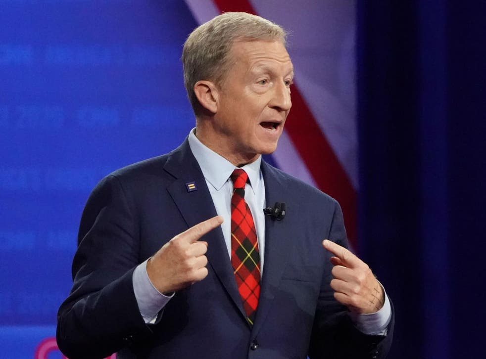 The 62-year-old billionaire was among 12 Democratic candidates debating in Ohio