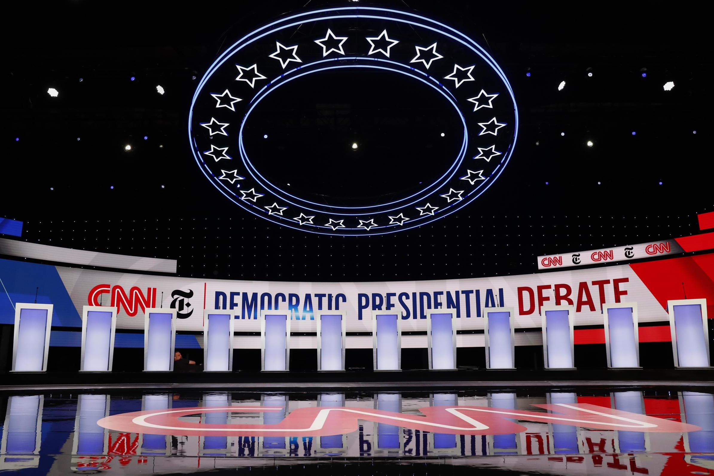 Democratic debate - live: Candidates spar in crucial showdown for first time since impeachment inquiry