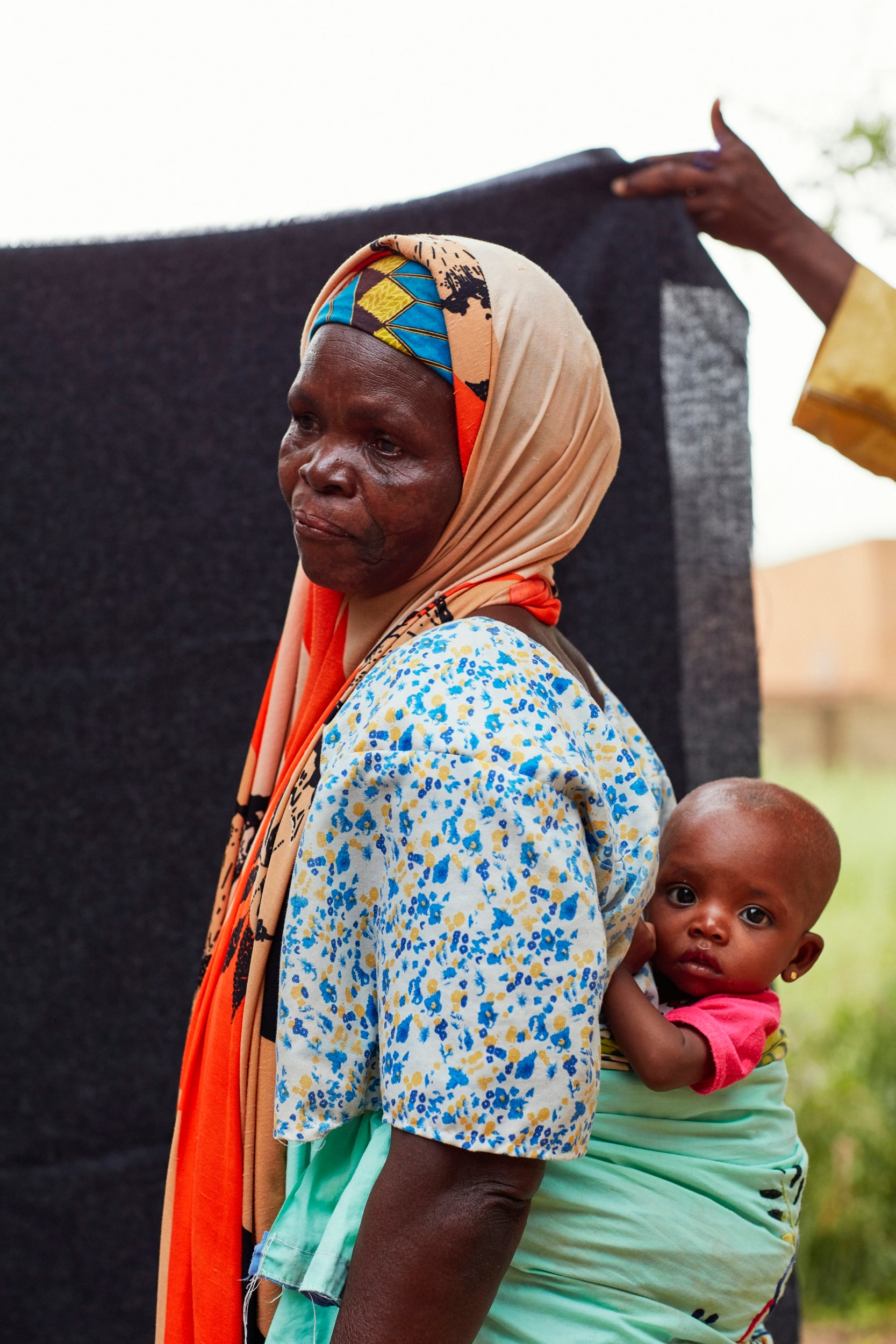 Rabi Chibkao, 56, and her granddaughter Aicka Danyabou, six months, at a Red Cross nutrition centre in the village of Kiéché, southern Niger