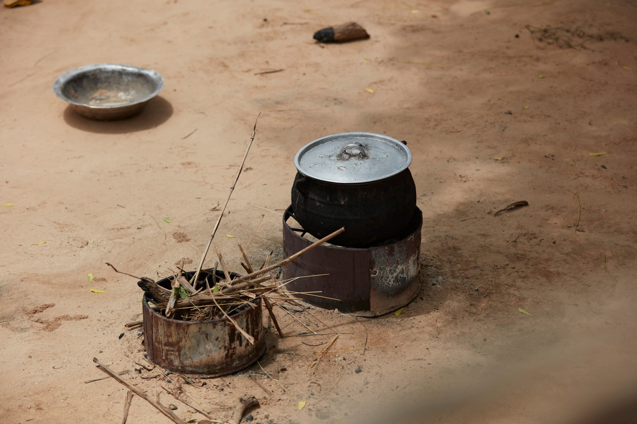 A traditional cooking pot used to cook tuwo in Tombokiery village, Niger