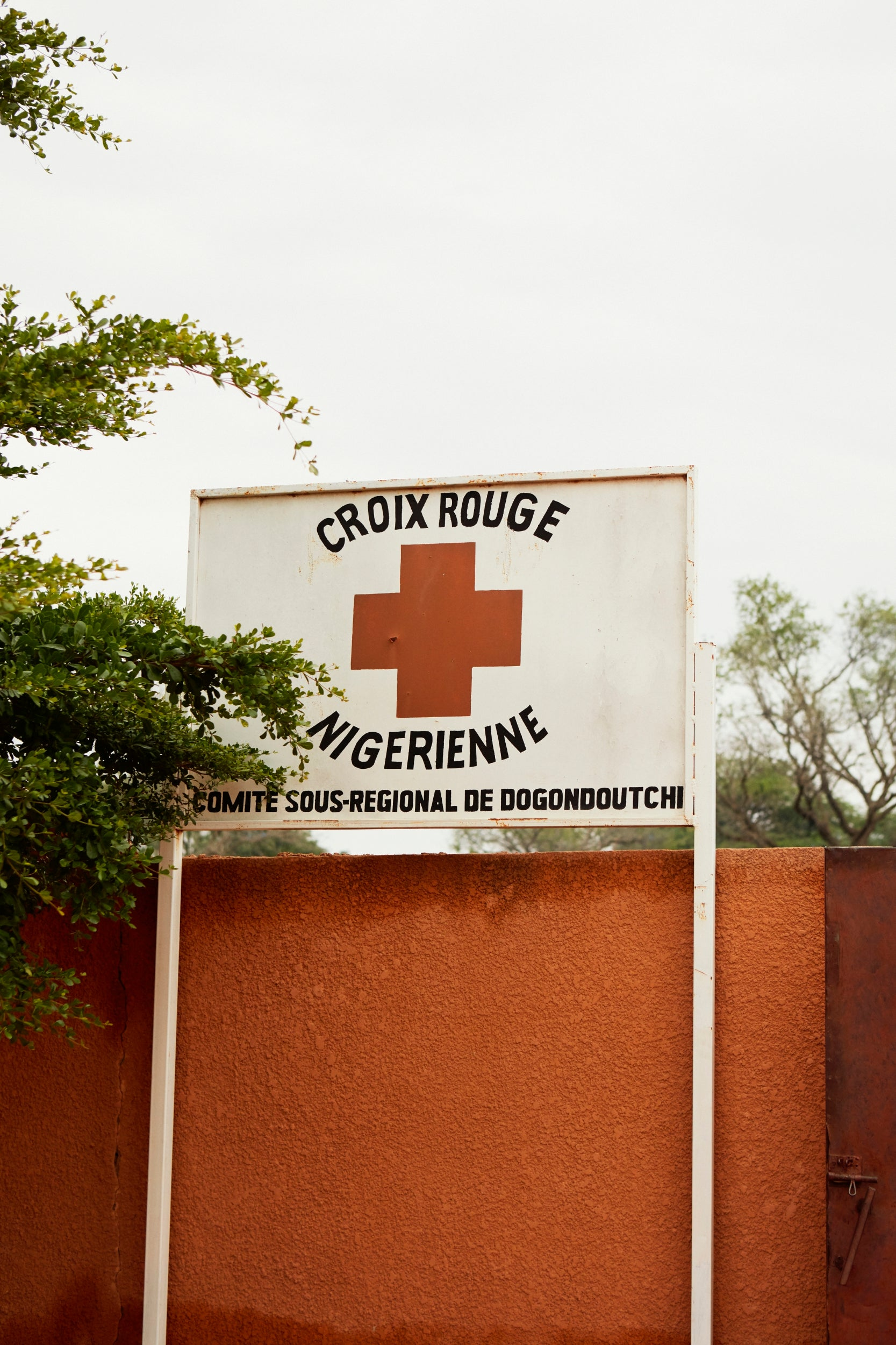 Niger Red Cross nutrition centre sign