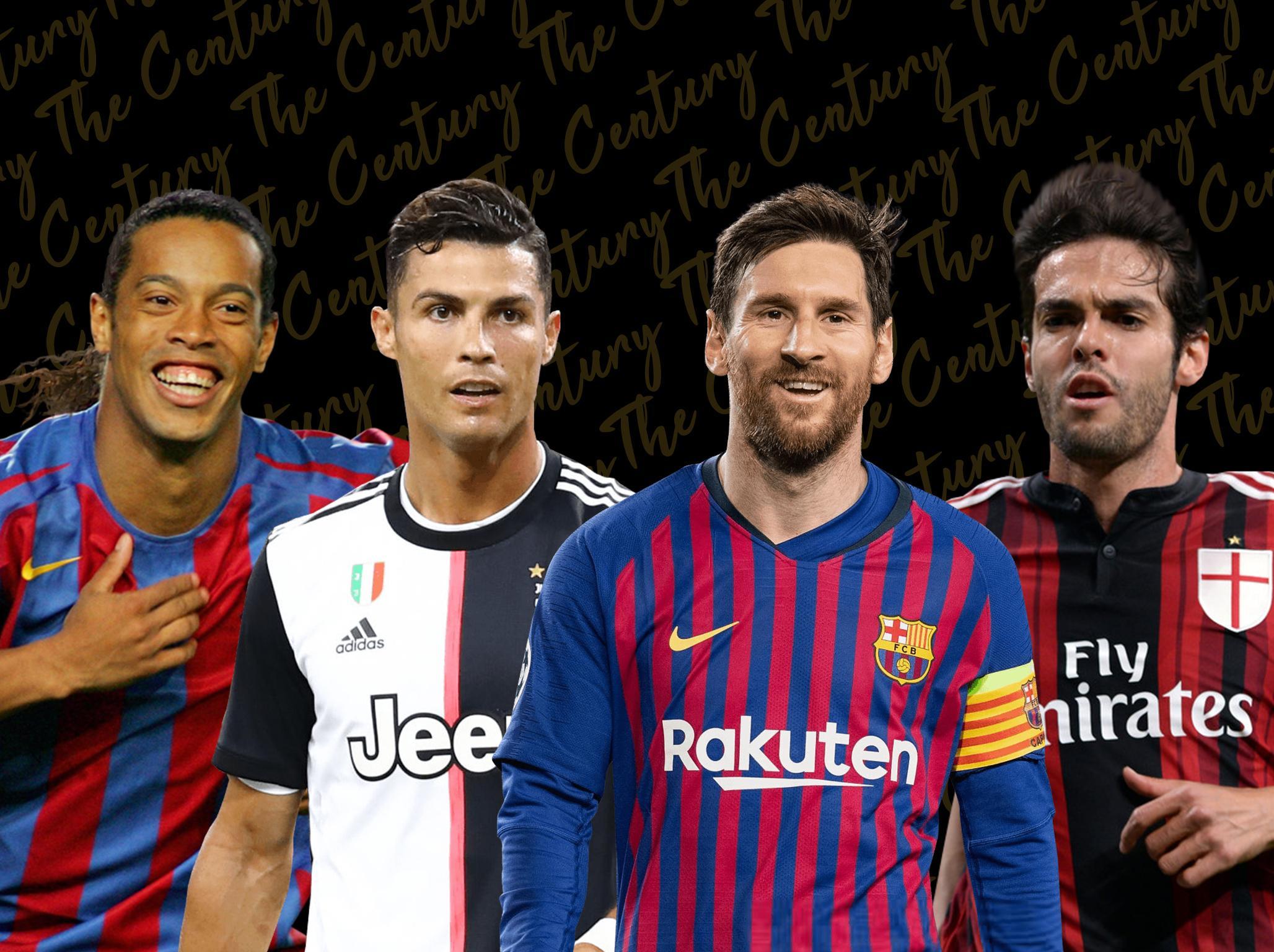 The Century: 100-1 countdown featuring Lionel Messi, Cristiano Ronaldo, Ronaldinho and more
