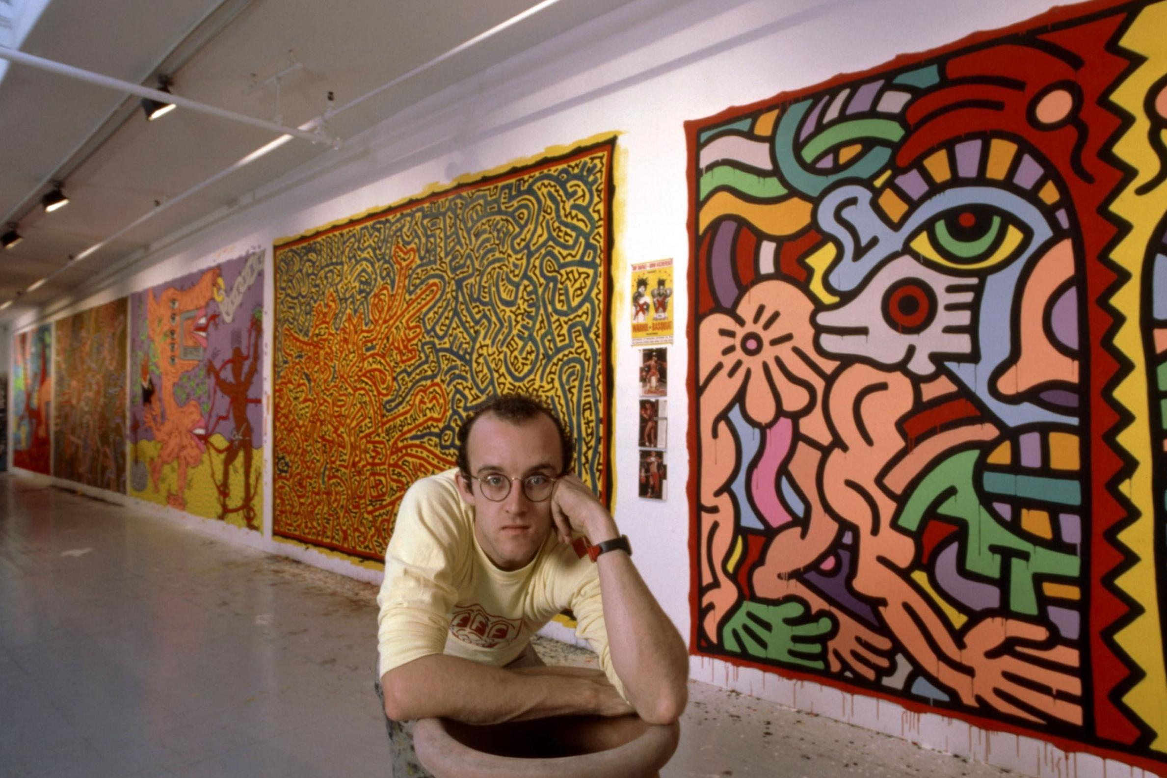 Keith Haring mural goes up for auction after being cut out of Catholic youth centre