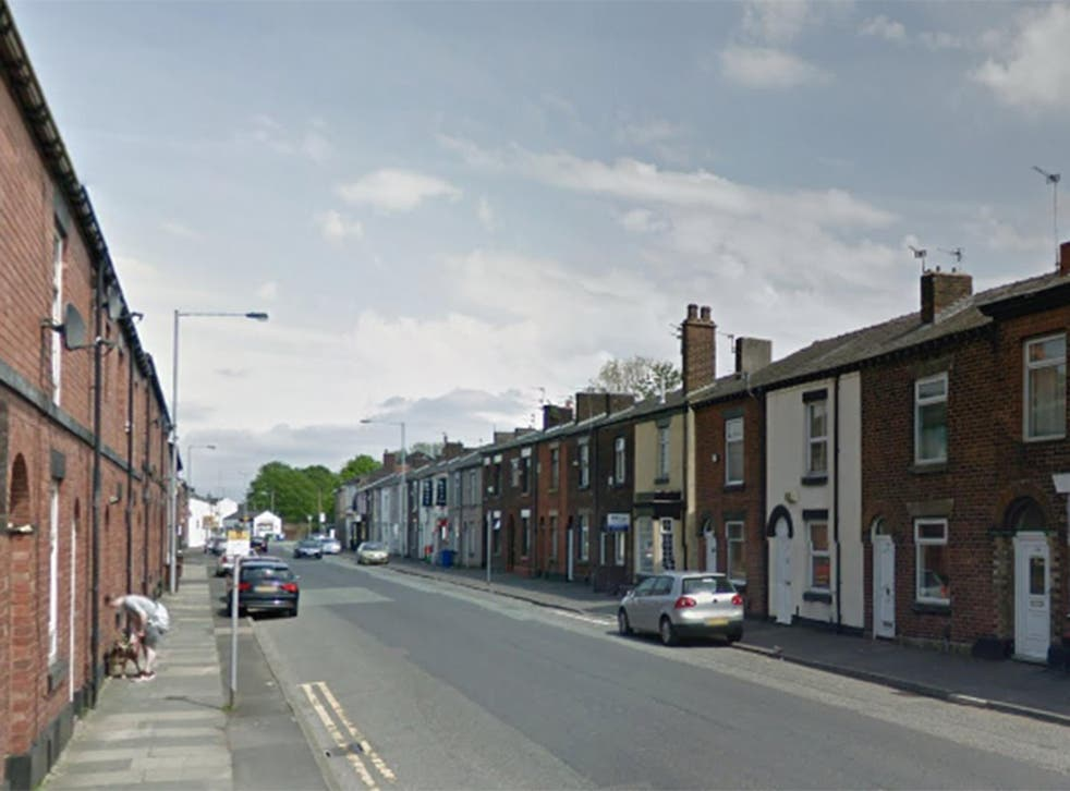 The incident occured on Cross Lane in Radcliffe, Greater Manchester