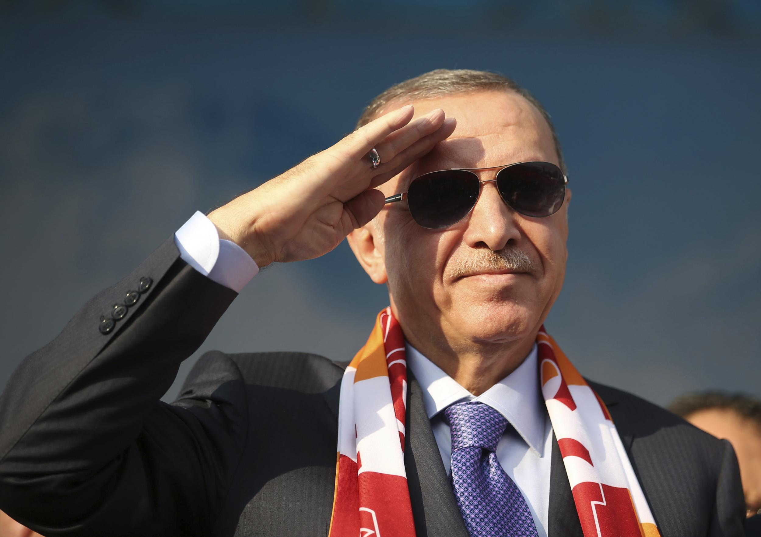 Turkey president Erdogan vows to 'crush the heads' of Kurdish fighters in Syria