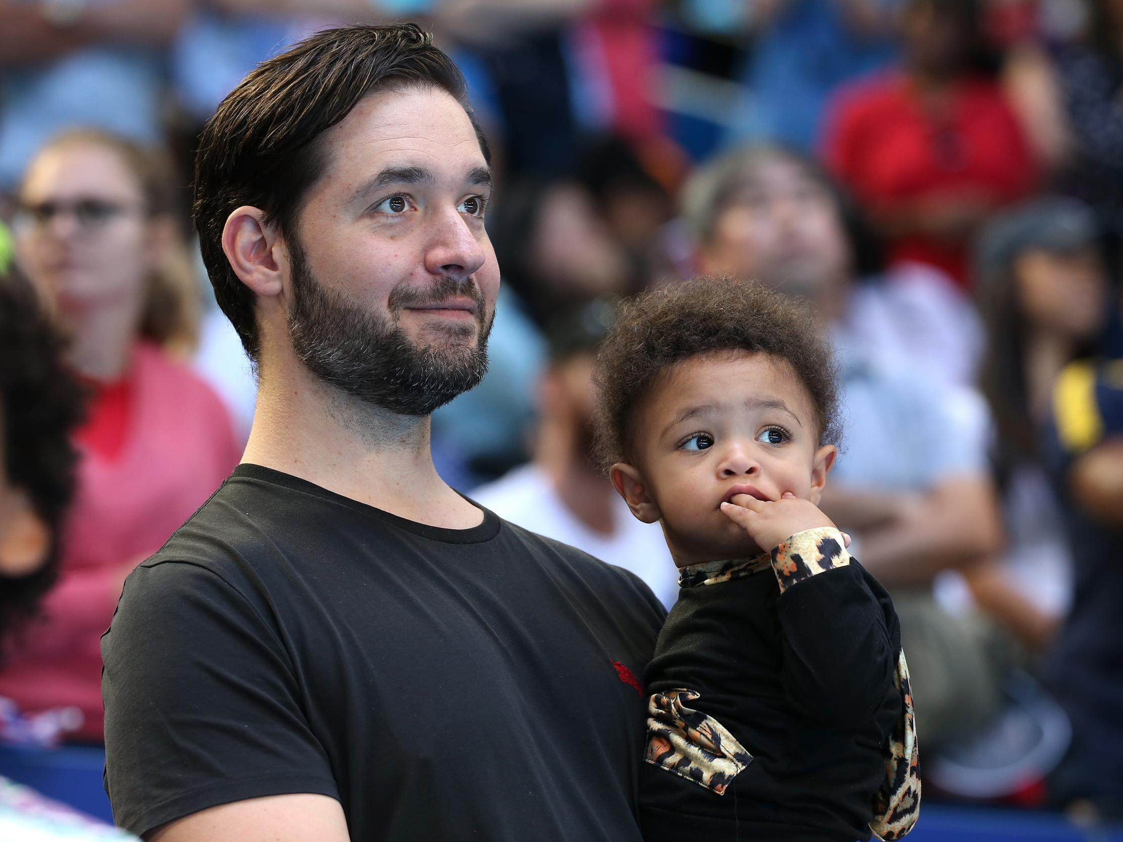 Alexis Ohanian shares sweet pictures of his and Serena Williams' daughter comparing her growth to a tree