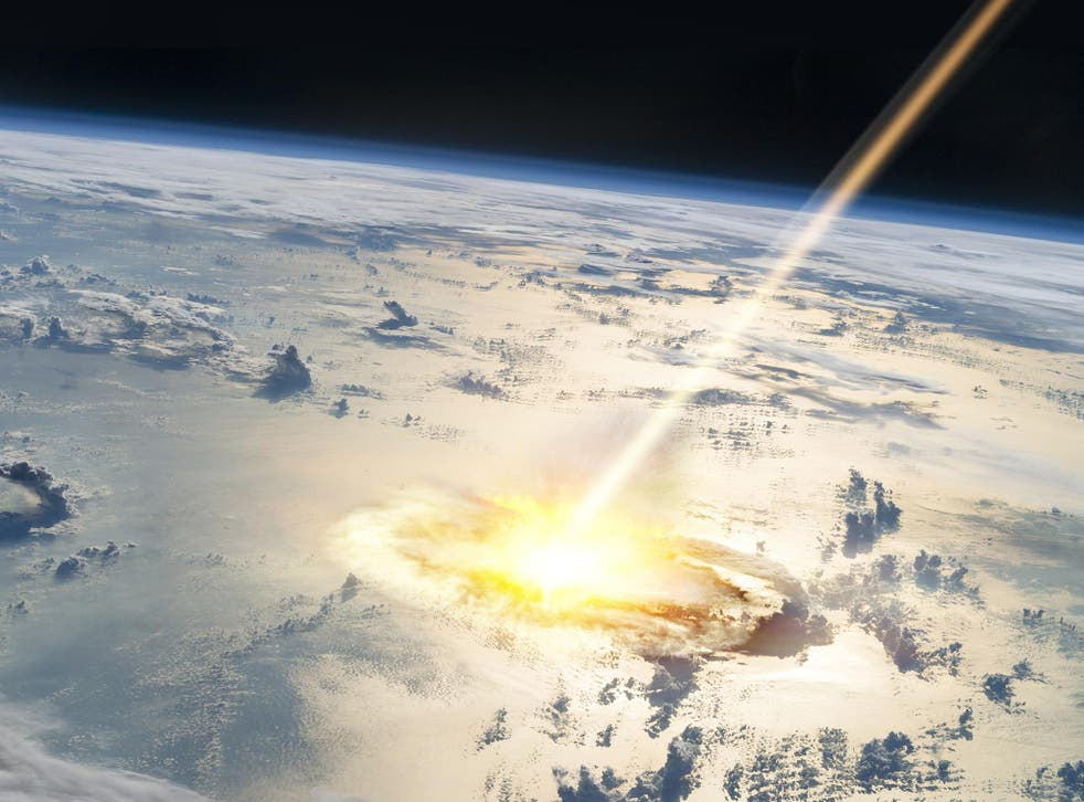 The huge asteroid crashed into earth in what is now Mexico
