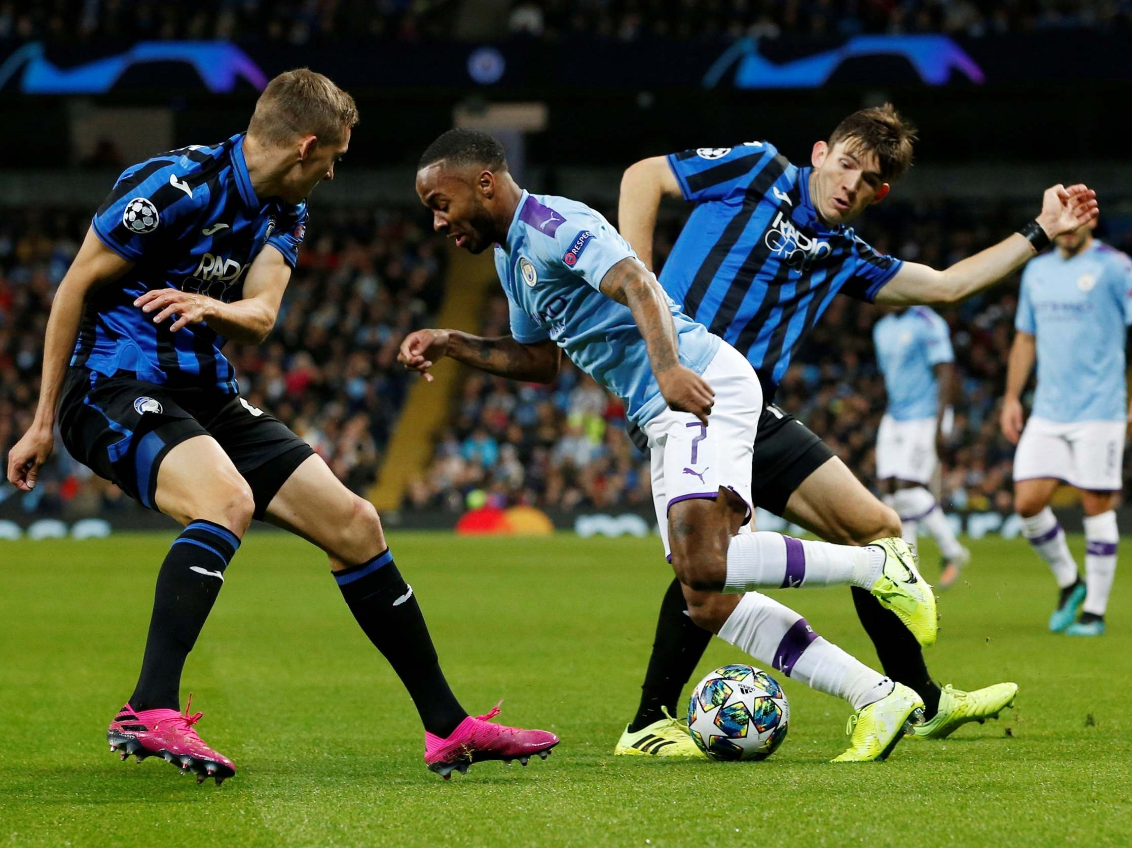 Manchester City vs Atalanta LIVE result: Raheem Sterling triples up in Champions League thumping | The Independent