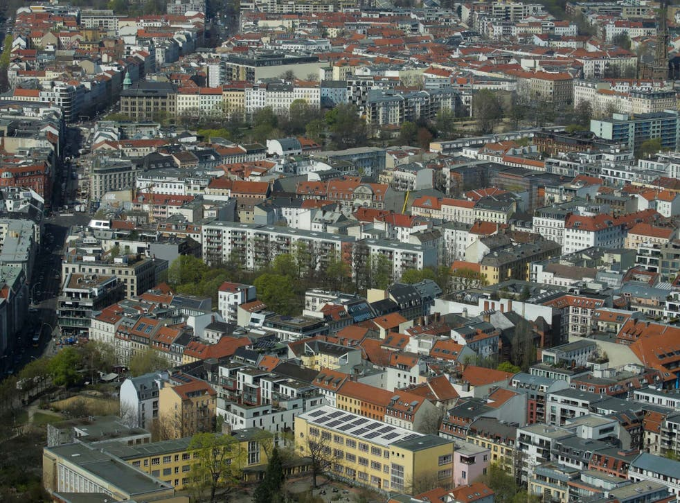 Apartment buildings in the Mitte district of Berlin, the capital of Germany